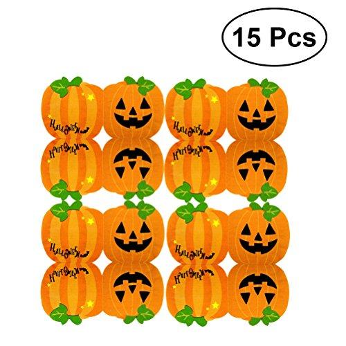 BESTOYARD Halloween Kürbis Servietten Tissue Servietten Doppelschicht Kürbis Muster Party Decor 15PCS