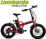 Cicli Puzone Bici Lombardo APPIA Folding Fat Bike 20 BAFANG Gamma 2019 (Red Black Matt)