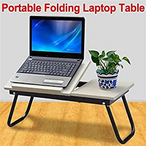 Popamazing Portable Folding Laptop Computer Notebook Table Stand Desk Wooden Lap Bed Tray