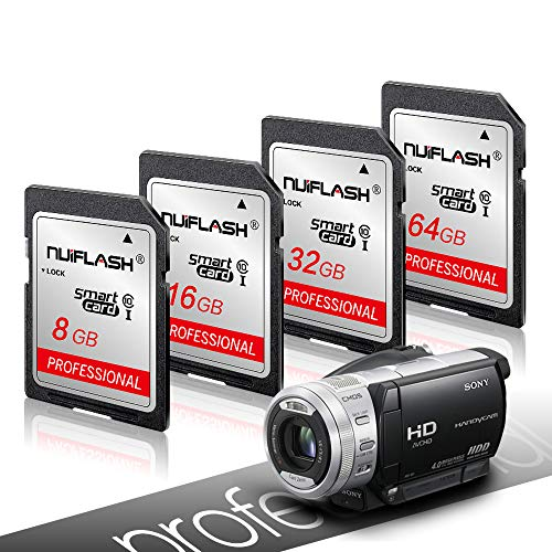 ASH Kamera-Speicherkarte, Class 10 SDHC UHS-II U3   SD-Karte Kompatible SD-Speicherkarte, C10, U1, Full HD, für Kameras und Digitale Camera.Etc,128GB