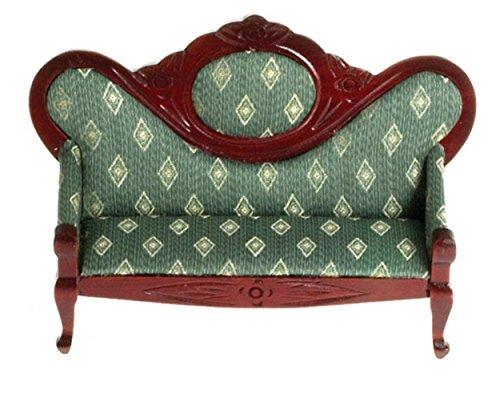 Puppenhaus Mahagoni grün Fauteil Sofa viktorianisch Wohnzimmer Möbel - Viktorianischen Sofa