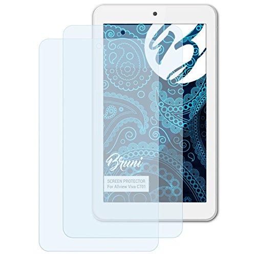 Bruni Schutzfolie für Allview Viva C701 Folie, glasklare Bildschirmschutzfolie (2X)