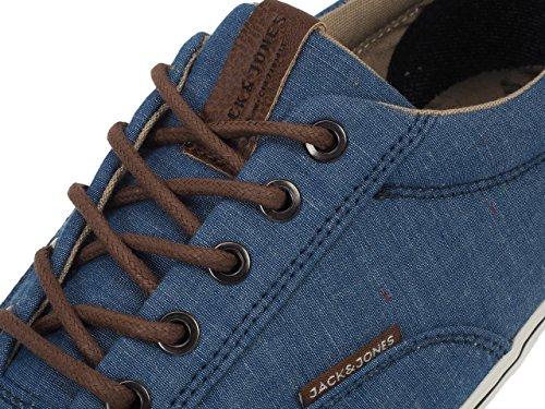 Jack & Jones Vision Chambray Mix Navy - Chaussures Basses Toile Bleu marine / bleu nuit