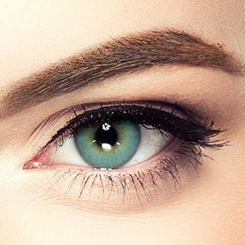 LUXDELUX PREMIUM natürliche Kontaktlinsen für dunkle Augen aus Silikon-Hydrogel D2111 Tropical Green grün