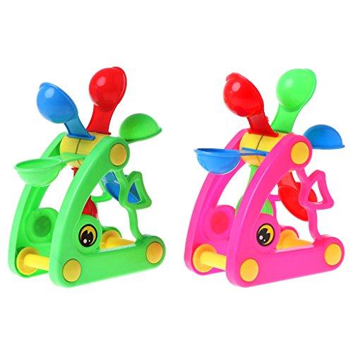 Giocattolo del bagno di xuniu, mulino a vento giocattoli della ruota idraulica giocattolo del bagno gioco giocattoli dell'acqua della sabbia piscina spiaggia bambino giocattolo del bambino colore casuale