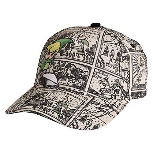 ZELDA Unisex Nintendo Legend of Woods Boys Curved Bill Cap Baseballkappe, Grau (Grey Grey), One Size