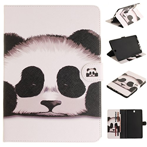 CaseFirst Samsung Galaxy Tab A 9.7 SM-T550 Case Cover, Protects Shell Anti-Scratch Wallet Case [Card Pocket] Protective Shell Armor Hybrid Shockproof Rubber Bumper Cover with Card Slot Holder - Panda - Passport Cover Panda