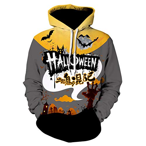 3D-Pullover Halloween Hoodie Pullover Männlich 2018 Herbst Winter New Devil Kürbis 3D Print Hoodie Lose Fett Jacke 3XL 7