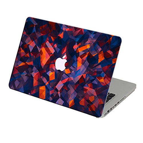 Theskinmantra Purple Red Crystal Effect Apple Macbook Air 13 Inch Decal/Skin With Apple Logo Cut Out And Round Edges