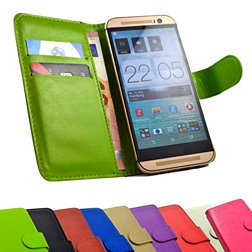 2 in 1 Set Emporia Smart.2 Smartphone - Handyhülle Handy Tasche Slide Kleber Schutz Case Cover Etui Schutzhülle Handytasche Book Style + Touch Pen in Grün Farbe