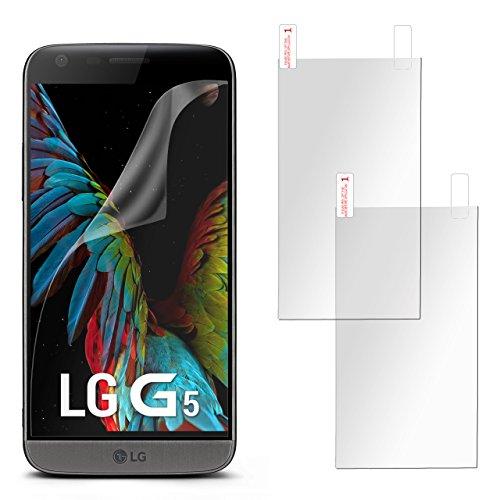 2x oneflow pellicola protettiva display anti reflex per lg g5 pellicola display opaca | forma perfetta e protezione ottimale