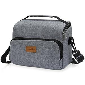 Lifewit Lunchtasche klein isoliert Kühltasche für Aufbewahrung von Essen Lebensmittel Mittagessen, Brotzeittasche für Büro/Schule/Picknick/Fitness, 8L, Grau