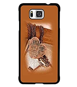 PrintDhaba Heart Pendant D-1209 Back Case Cover for SAMSUNG GALAXY ALPHA (Multi-Coloured)
