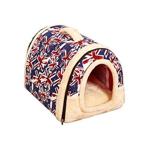 fish Dog House Kennel Nest mit Matte Faltbare-Hundebett-Katze-Bett-Haus für Small Medium Hunde -