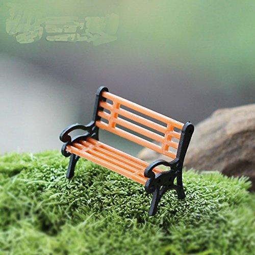 MaxS in legno Panchina modello casa delle bambole in miniatura giardino paesaggio microlandschaft accessori 2pcs - Lattice Arbor