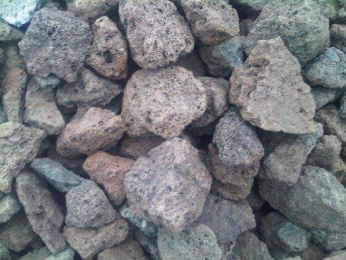 100 kg Lava Mulch - Steine 16-32 mm - Gasgrill Elektrogrill Lavastein Lavasteine Kies Kiesel Aquarium