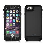 ele ELEOPTION iPhone 8 Plus Akkuhülle 4800mAh IP68 Wasserdicht Hardcase Metall Slim case tragbare universal Powerbank Fastcharging auch für iPhone 7 Plus / 6s Plus / 6 Plus (5,5inch)