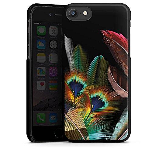 Apple iPhone 6 Silikon Hülle Case Schutzhülle Pfauenfedern ohne Hintergrund Pfau Hard Case schwarz