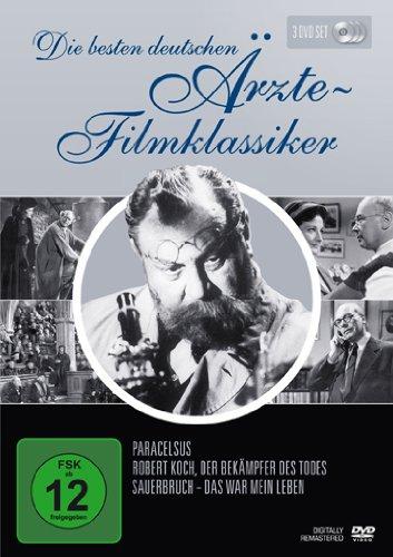 Bild von Die besten deutschen Ärzte-Filmklassiker (Paracelsus / Robert Koch, Der Bekämpfer des Todes / Sauerbruch - Das war mein Leben) [3 DVDs]