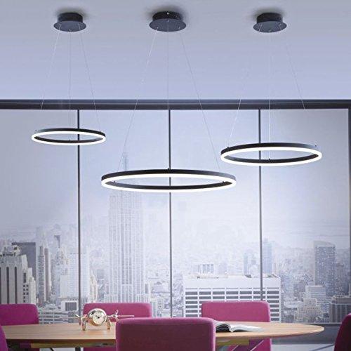 Licht-Trend Ring L LED-Hängeleuchte dimmbar über Schalter Ø 80 cm Anthrazit Ringleuchte