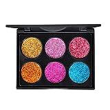 Frcolor Palette per ombretti 6 colori Palette per ombretti Shimmer Glitter (A Style)