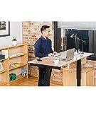 Stand Up Desk Store Höhenverstellbarer Schreibtisch (Rahmen anthrazit/Natürliche Walnuss, Schreibtisch Länge: 150cm) - 3