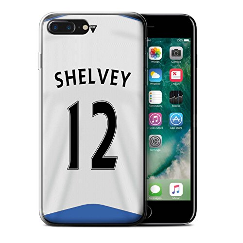 Offiziell Newcastle United FC Hülle / Gel TPU Case für Apple iPhone 7 Plus / Obertan Muster / NUFC Trikot Home 15/16 Kollektion Shelvey