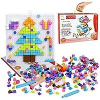 Puzzle Dinosaurios, Mosaicos Infantiles, Puzzles Mosaico Pinchos para 4+ Años ( Puzzles 420+ )