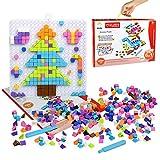 Dinosaure Puzzle, DIY Mosaïque 3D Jouets, Blocs de Construction Blocs Pixel Mosaïque Conseil, BRICOLAGE Puzzle Conseil Décorations Cadeaux pour Enfants 4 5 6 7 8 (420+ Pcs)...