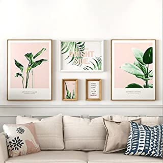 JYH ojh Nordic Large Wall Foto Wand Wohnzimmer Sofa Hintergrund Wand 5 Rahmen Typ Conjoined Frame Wall (Farbe : 2#)