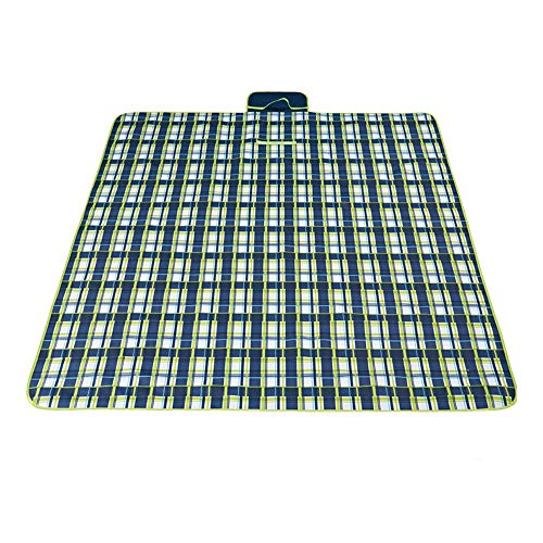 SAN Oxford-Tuch-Feuchtigkeits-Beweis-Auflage im Freien dunkelblaue Picknick-Matte Strandmatte Gras-Matte Bewegliche Verdickungsmatte faltende Strand-Decke kompakte leichte Picknick-Decke Extra großer (Rasen Wie Teppich)