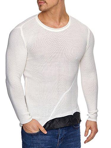 TAZZIO Herren Styler Strick-Pullover 16494 Ecru