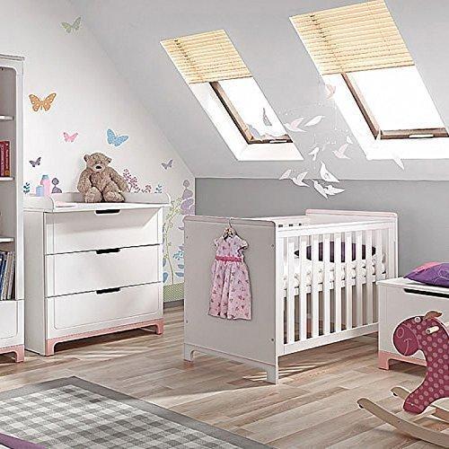lounge-zone marcas Cuna Cuna PINUS PINEA MACIZO Cuna Cama Para Niños massivbett Mini niña blanco 140x70 Convertible schlupfsprossen Escandinavo diseño 12182