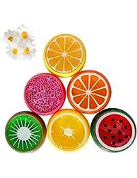 6pc cristal frutas arcilla de goma barro inteligente mano Gum plastilina Slime Kid toys-honestyi