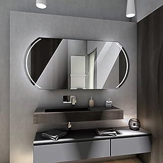 Badspiegel mit LED Beleuchtung von Spiegel-Magic | Wandspiegel Badezimmerspiegel | B x H: 190 cm x 100 cm | Madrid Design