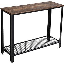 VASAGLE Table d'entrée Vintage, Table de Console, Stable, Bout de canapé, pour Entrée, Salon, Chambre, Assemblage Facile LNT80X