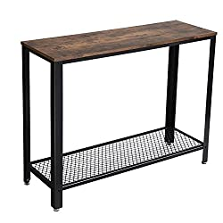 VASAGLE Vintage Console Table, Entryway Table, Stable Sofa Table, for Entryway, Living Room, Bedroom, Easy Assembly LNT80X