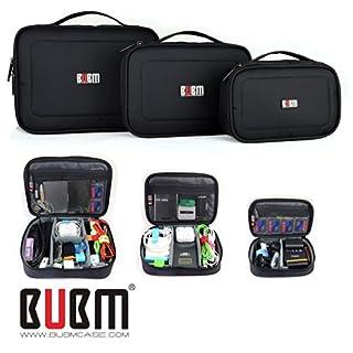 3 x BUBM Mehrfachfunktion Zubehör Speicher tragen Beutel-Kasten USB-Kabel Speicherkarte Netzkabel Akku Aufbewahrungstasche Fall Triple Set große, mittlere und kleine Qualität