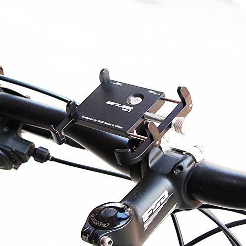 GUB Bike Phone Halterung, Fahrrad Lenker Handy Halterung Universal Verstellbar Drehbar Wiege Klemme für Mountain Bike Motorrad, Passt für iPhone, Samsung Galaxy Android-Telefone, Black PRO2