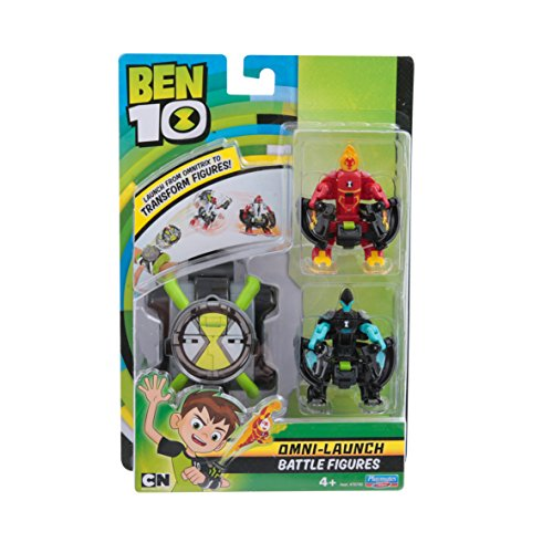 Ben 10 Omni Launch - Battle Figures - Heatblast & XLR8