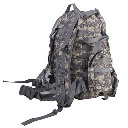 Wanderrucksäcke Militär Taktisch Rucksack Molle Angriff Rucksack Tasche Wandern 65L (Bräune) ACU Camo