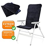 EXTREM weiche Velours Sitzauflage für Lehnstühle, passend für Lehnstühle KEINE Knickfalz, robuste glatte Unterseite 125 x 54 cm