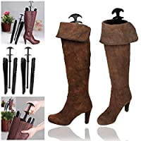 "WSS - 1 Pairs 12.5"" Extra Long Knee Automatic Black Boot Tree Boot Shapers Shoe Stretcher"