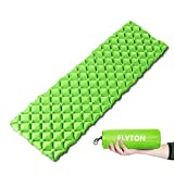 FLYTON Sleeping Pad, Inflatable Sleeping Mat,Ultralight&Compact Camping Mattress For Backpacking, Hiking, Hammock,Tent (green)
