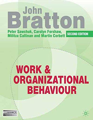 Work and Organizational Behaviour