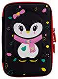 Ofsign Multipurpose Cute Owl Art Black Pencil Pouch