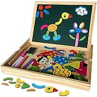 Educativo Bambino Giocattoli Lavagna Magnetica in Legno con Contenitore Magnetica Jigsaw Giochi per i Bambini oltre 3