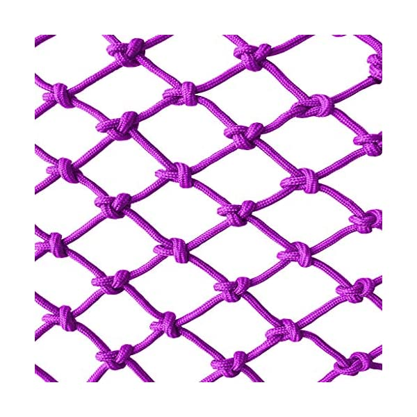 Purple Child safety net protective net balcony stairs anti-fall net kindergarten color decorative net fence network Width 1/4M Length 1M /9M Hand braided traditional structure (Size : 4 * 5)  [Protect children's safety]: Many children fall from the building, let us understand that the safety of children can not be ignored. [Polyester knotless woven mesh]: The mesh surface has large pulling force, and the double needle has no knot woven mesh hole, so that the mesh has stronger impact resistance. [wire diameter 6MM, mesh spacing 4CM]: Escort for baby safety.(Others available in our shop) 1