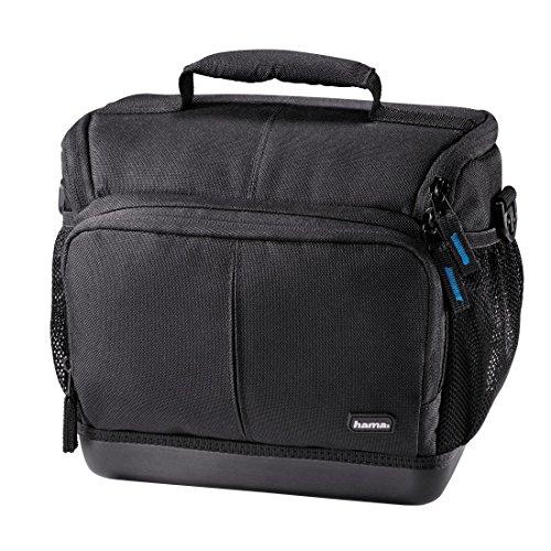 Hama Kameratasche Outdoor für DSLR Kamera und zwei Objektive (wasserabweisender Hartschalenboden, stoßfest, gepolstert, Innenmaße 20 x 11 x 17 cm, Ancona HC 130) schwarz