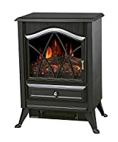 "Galleon Fires ""Neos"" Electric Stove -Nickel Handles- Fireplace Heater- Real Log Flame Effect- Burner Electric Stove Fire Places/ Fireplaces Freestanding - New Model"
